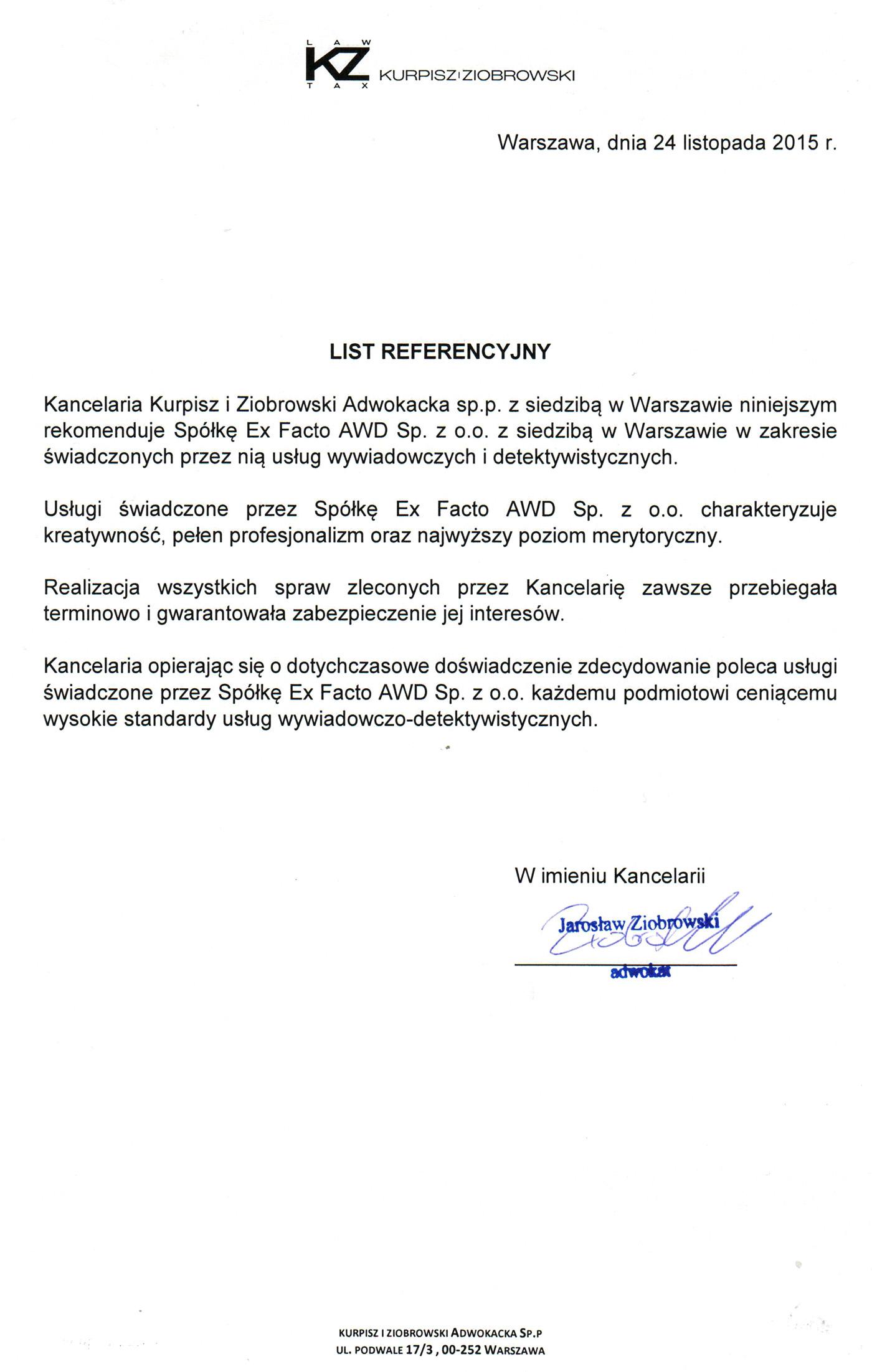 Kurpisz_Ziobrowski_list referencyjny_small